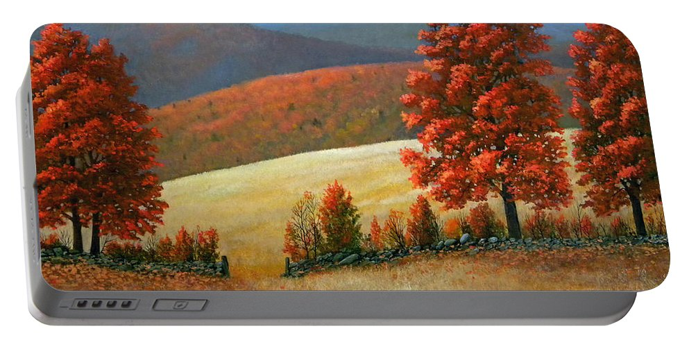 Landscape Portable Battery Charger featuring the painting Autumns Glory by Frank Wilson