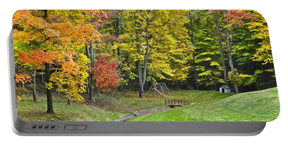 Landscape Portable Battery Charger featuring the photograph Autumns Playground by Frozen in Time Fine Art Photography