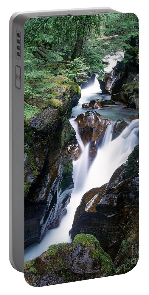Avalanche Creek Portable Battery Charger featuring the photograph Avalanche Creek by Tracy Knauer