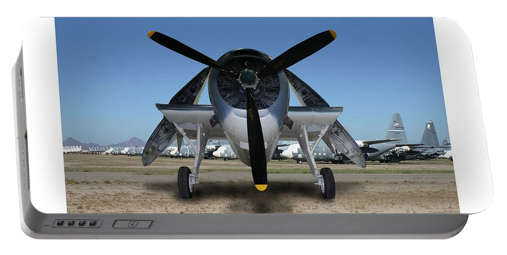 The 1943 Navy Tbf Avenger Was Designed And Built Initially By The Grumman Company And Designated Tbf Portable Battery Charger featuring the photograph Abstract Avenger T B M Moffett Field by Jack Pumphrey