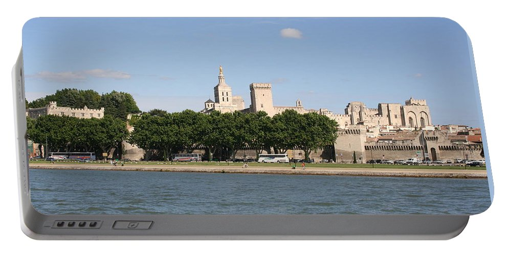 City Portable Battery Charger featuring the photograph Avigon View From River Rhone by Christiane Schulze Art And Photography
