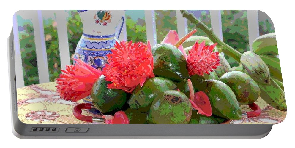 Avocados Portable Battery Charger featuring the photograph Avocados by The Art of Alice Terrill