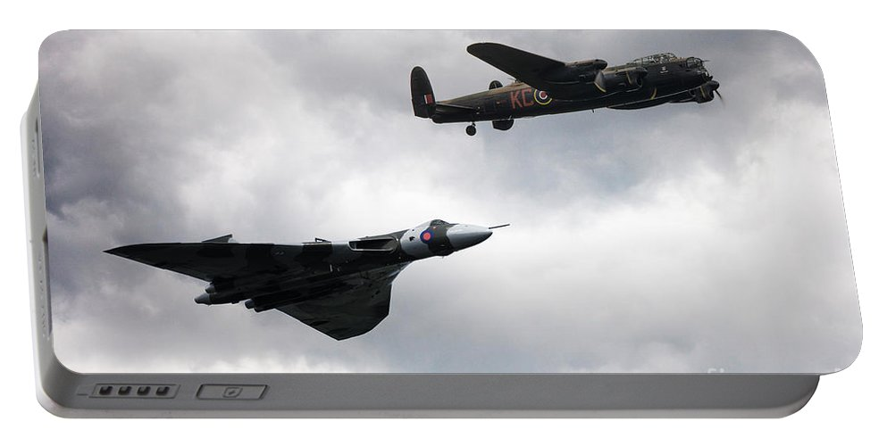 Lancaster Bomber Portable Battery Charger featuring the digital art Avro Icons by J Biggadike