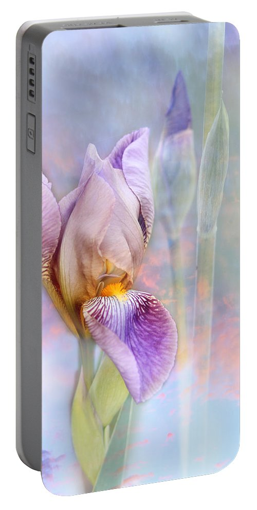 Iris Portable Battery Charger featuring the photograph Awakening by Karen Beasley