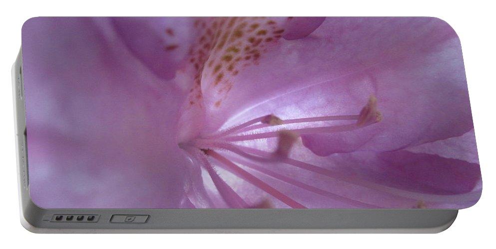 Floral Portable Battery Charger featuring the photograph Azalia Macro 2 by Tara Shalton