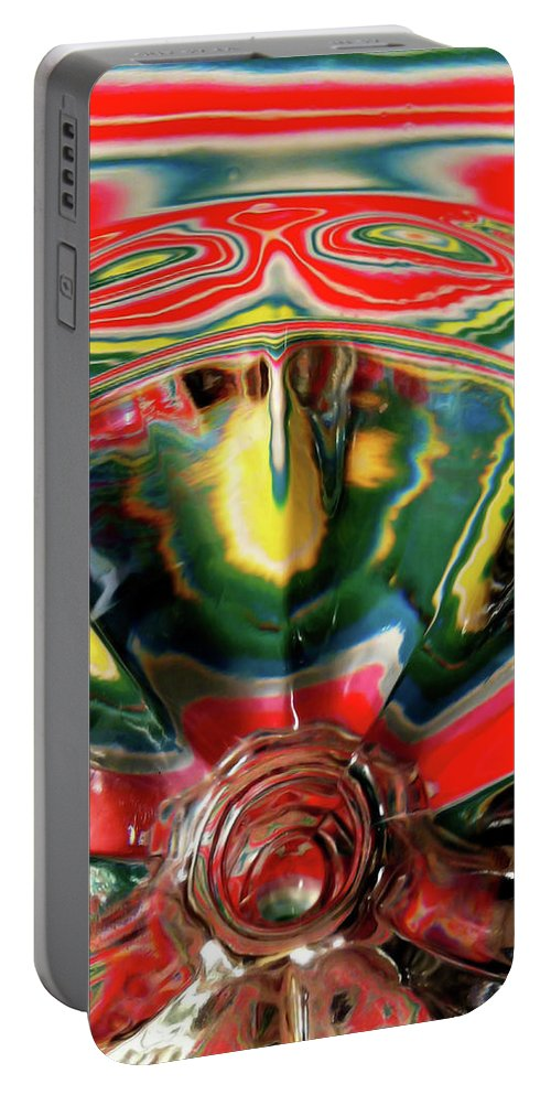 Glass Portable Battery Charger featuring the photograph Aztec Influence by Donna Blackhall