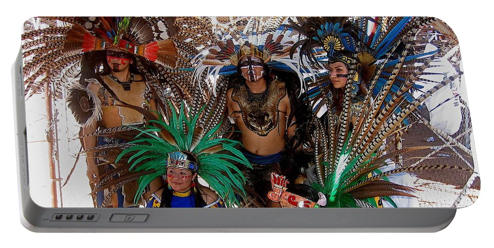 Aztec Performers O'odham Tash Casa Grande Arizona 2006 Portable Battery Charger featuring the photograph Aztec Performers O'odham Tash Casa Grande Arizona 2006 by David Lee Guss