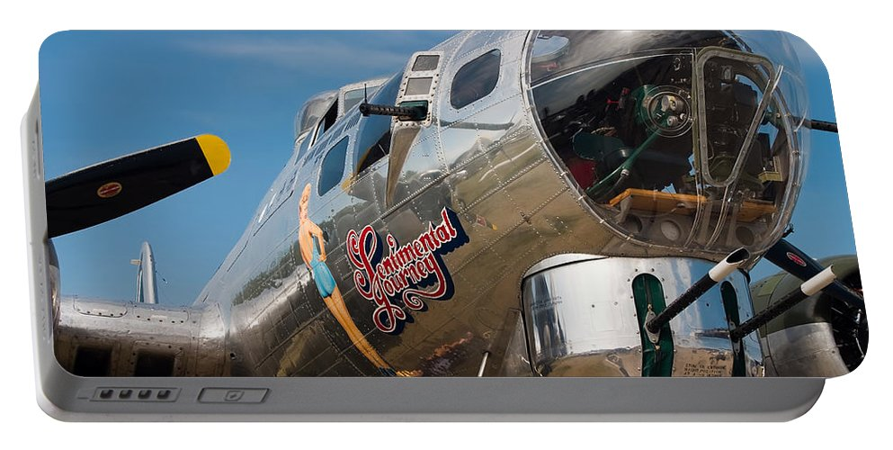 3scape Photos Portable Battery Charger featuring the photograph B-17 Flying Fortress by Adam Romanowicz