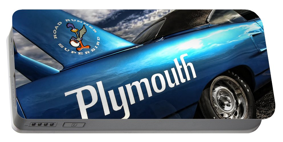 1970 Portable Battery Charger featuring the photograph B5 Blue Superbird by Gordon Dean II