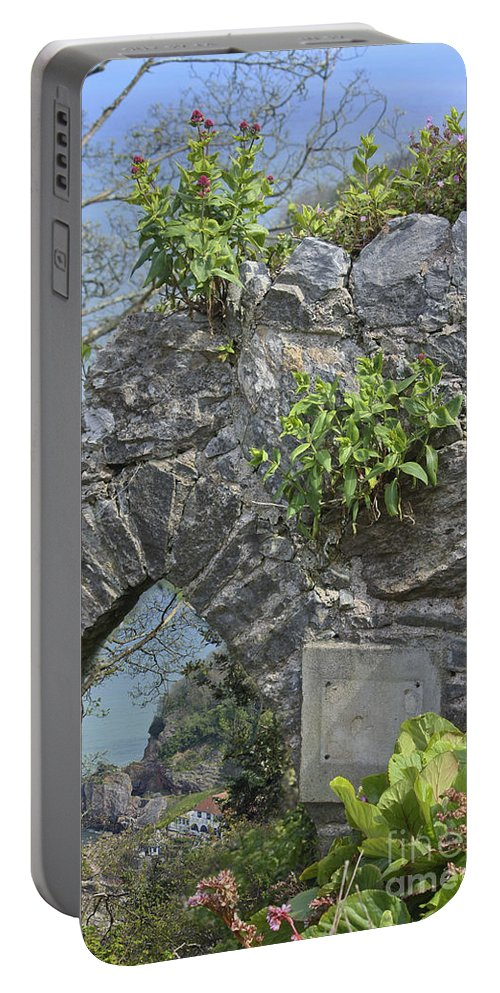 Scenic Portable Battery Charger featuring the photograph Babbacombe Devon by Terri Waters