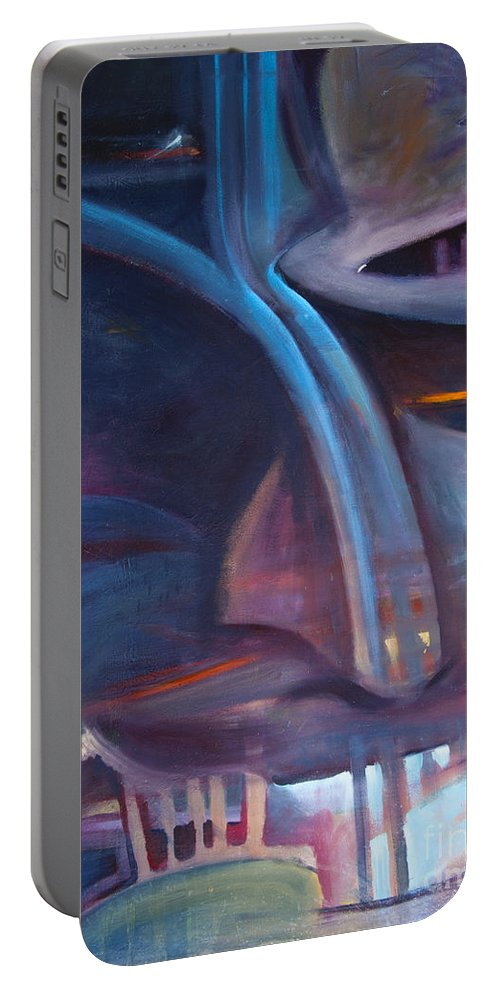 Ape Paintings Portable Battery Charger featuring the painting Baboon by Rob Corsetti