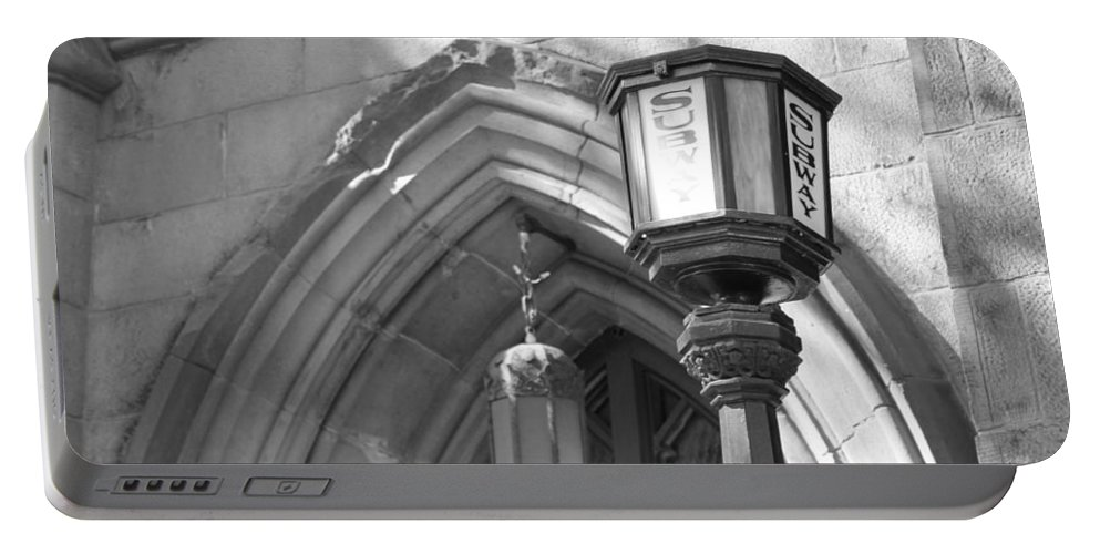 Subway Station Portable Battery Charger featuring the photograph Back In Time by Catie Canetti