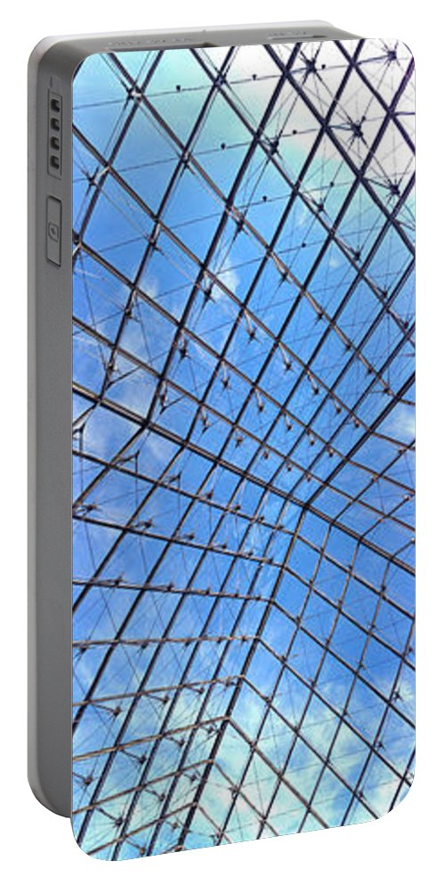 Paris Portable Battery Charger featuring the photograph Backbend In The Louvre by Lexi Heft