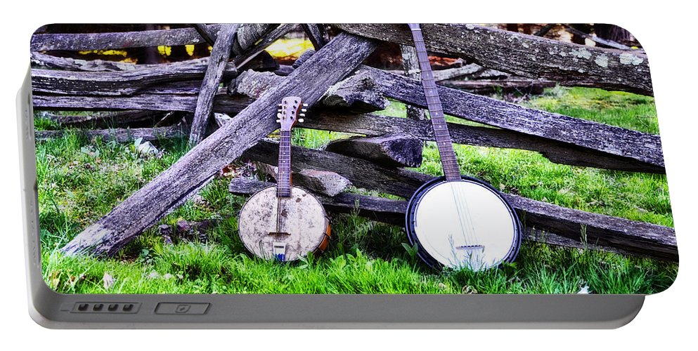Backwoods Portable Battery Charger featuring the photograph Backwoods Music by Bill Cannon
