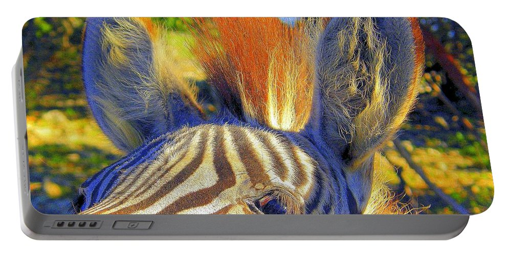 Mammals Portable Battery Charger featuring the photograph Bad Fur Day Sold by Antonia Citrino