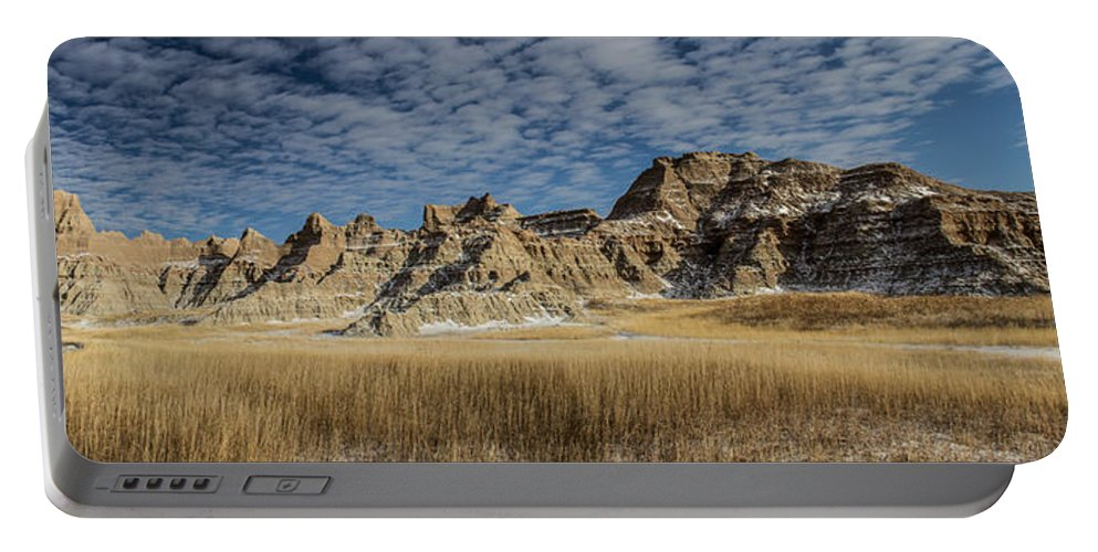 Day Portable Battery Charger featuring the photograph Badlands South Dakota by Aaron J Groen