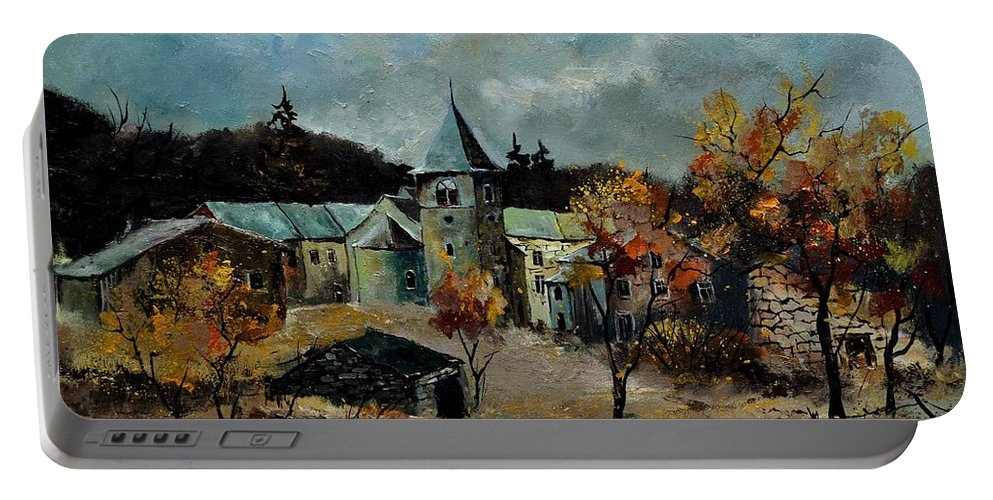 Landscape Portable Battery Charger featuring the painting Bagimont by Pol Ledent