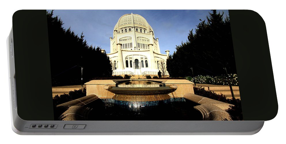 Bahá'í Temple Portable Battery Charger featuring the photograph Bahai Temple by Sue Conwell