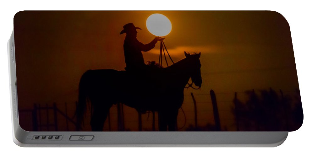 Moon Portable Battery Charger featuring the photograph Balancing Act by Kelli Brown