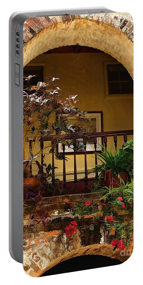 St Lucia Portable Battery Charger featuring the photograph Balcony St Lucia by Tom Prendergast