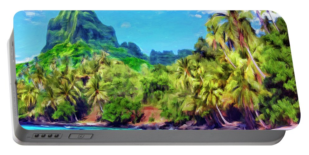 Bali Hai Portable Battery Charger featuring the painting Bali Hai by Dominic Piperata