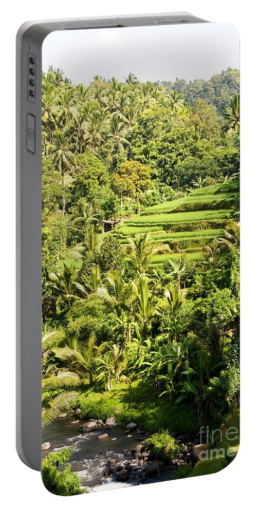 Indonesia Portable Battery Charger featuring the photograph Bali Sayan Rice Terraces by Rick Piper Photography