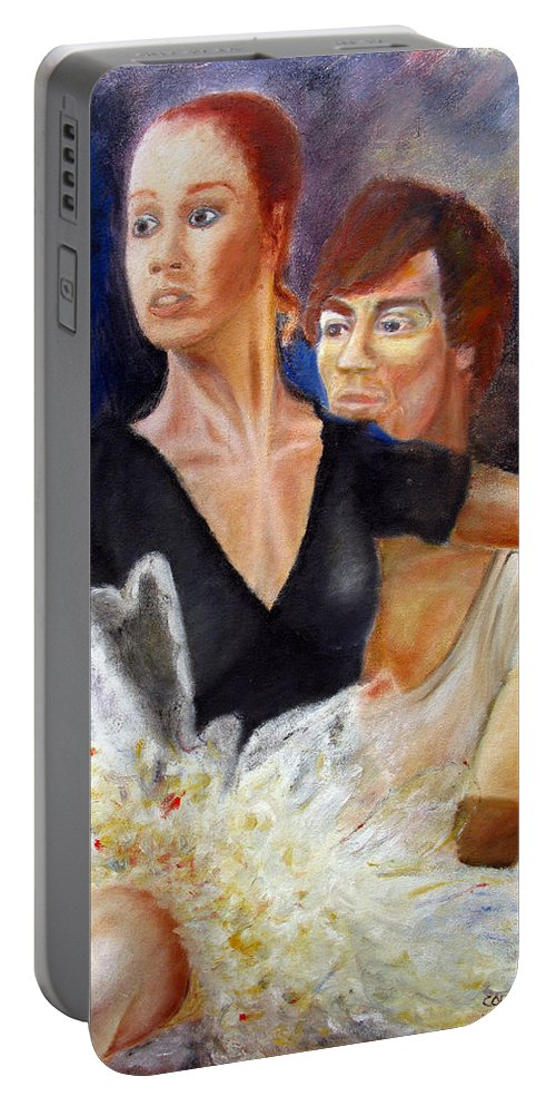 Ballet Portable Battery Charger featuring the painting Ballet Dancers Rehearse For La Bayadere by Tom Conway