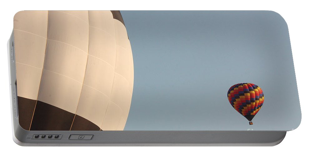 Hot Air Balloon Portable Battery Charger featuring the photograph Balloon-color-2shot-7366 by Gary Gingrich Galleries
