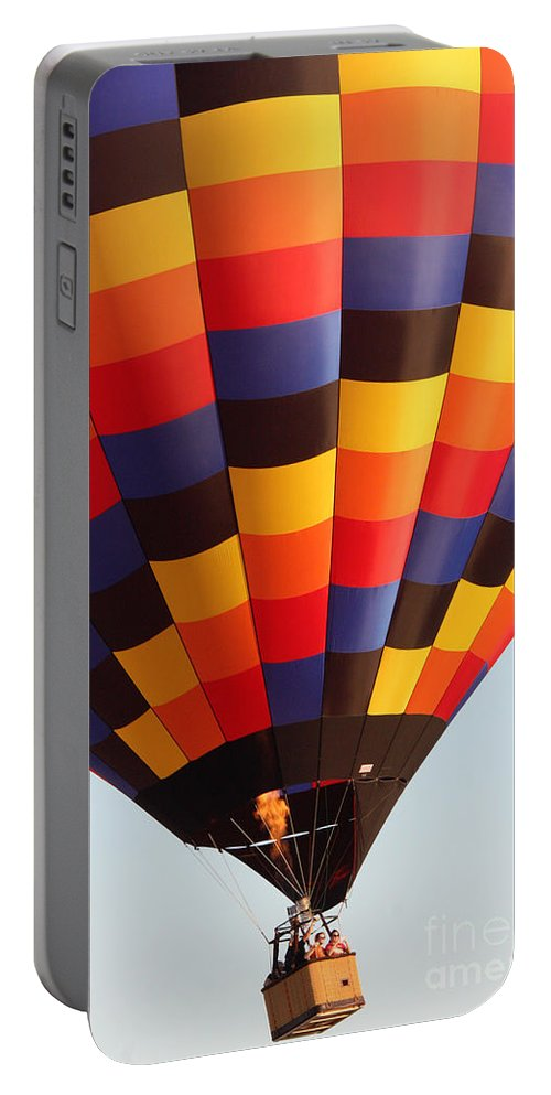 Hot Air Balloon Portable Battery Charger featuring the photograph Balloon-color-7277 by Gary Gingrich Galleries