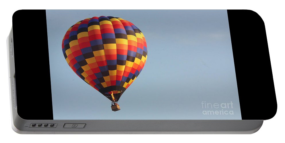 Hot Air Balloon Portable Battery Charger featuring the photograph Balloon-color-7302 by Gary Gingrich Galleries