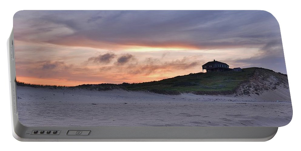 Cape Cod Portable Battery Charger featuring the photograph Ballston Beach Sunset by Lisa Kane