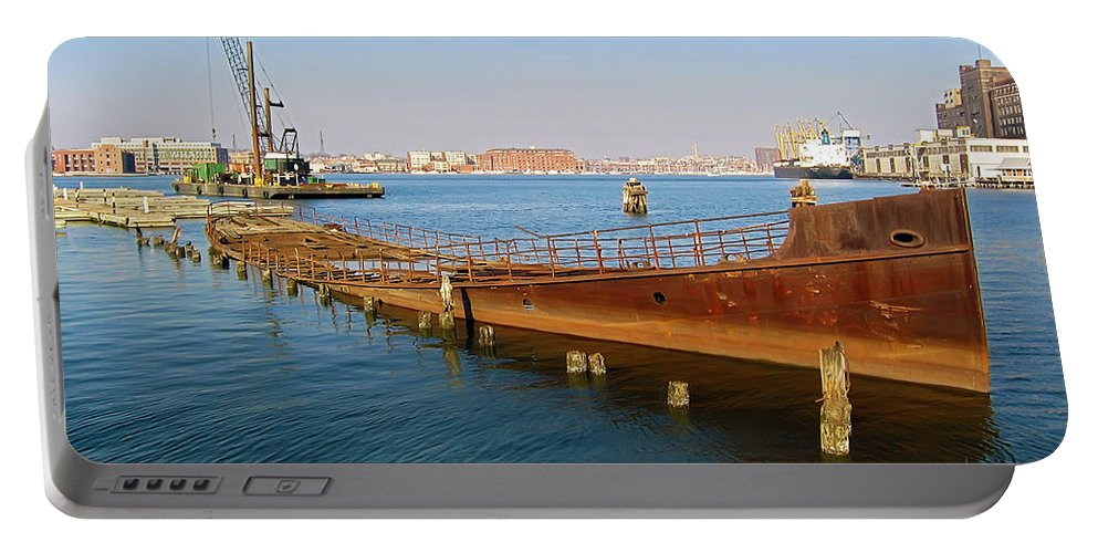 2d Portable Battery Charger featuring the photograph Baltimore Museum Of Industry by Brian Wallace
