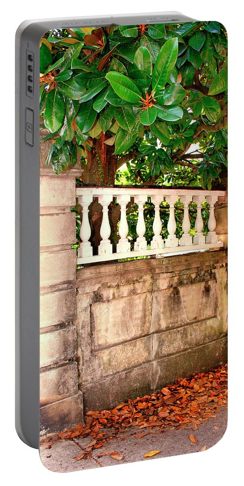 Charleston Portable Battery Charger featuring the photograph Balustrade Charleston Sc by William Dey