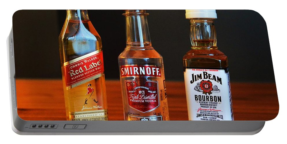 Alcohol Portable Battery Charger featuring the photograph Bar by Snowflake Obsidian