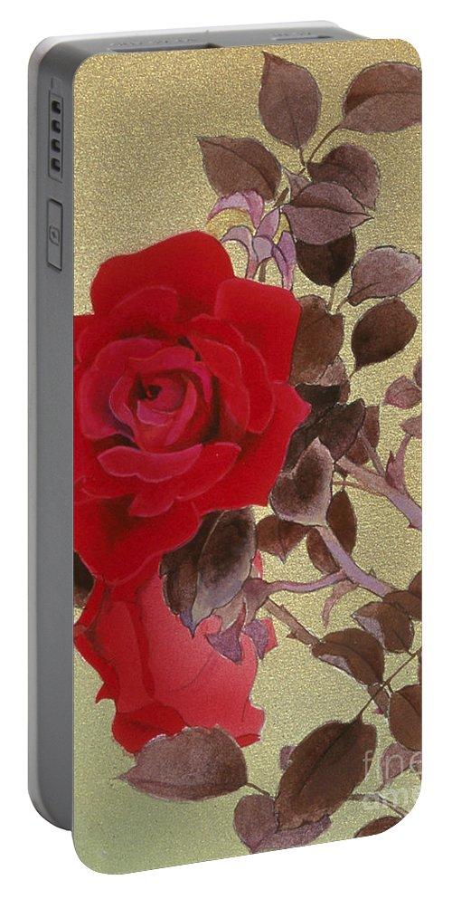 Haruyo Morita Portable Battery Charger featuring the digital art Bara Crop I by Haruyo Morita