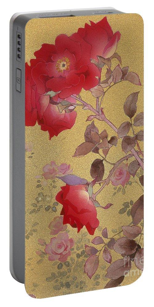 Haruyo Morita Portable Battery Charger featuring the digital art Bara Crop IIi by Haruyo Morita