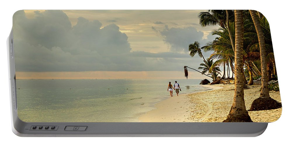 Beach Portable Battery Charger featuring the photograph Barefoot On The Beach by Ian Good