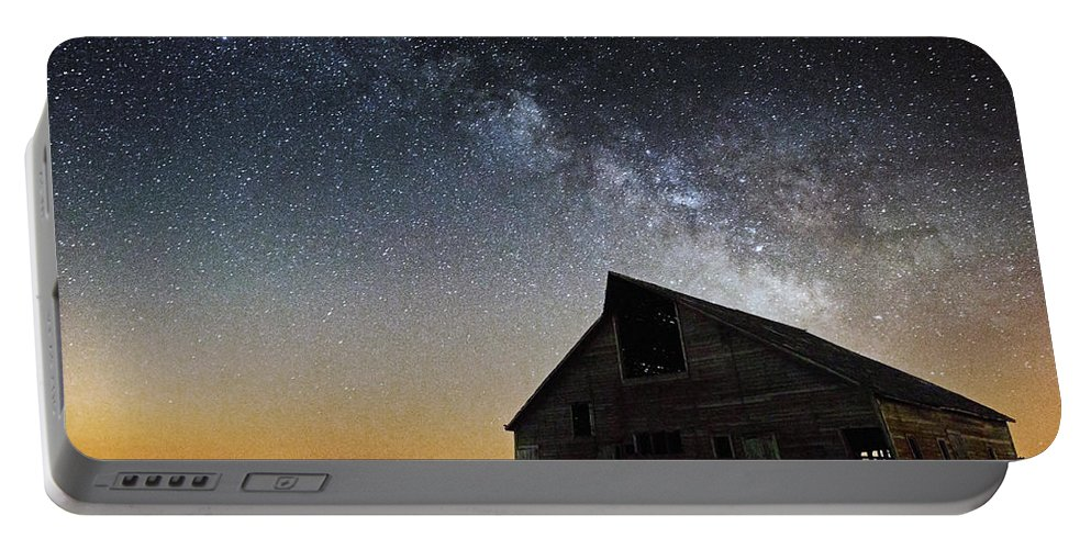 Portable Battery Charger featuring the photograph Barn by Aaron J Groen