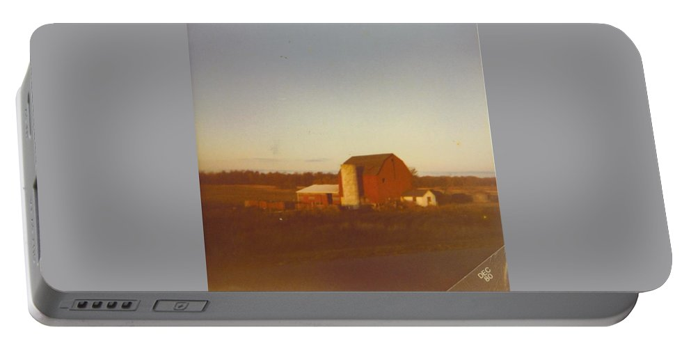 Michigan Barns And Landscape Portable Battery Charger featuring the photograph Barn And Land Scape by Robert Floyd