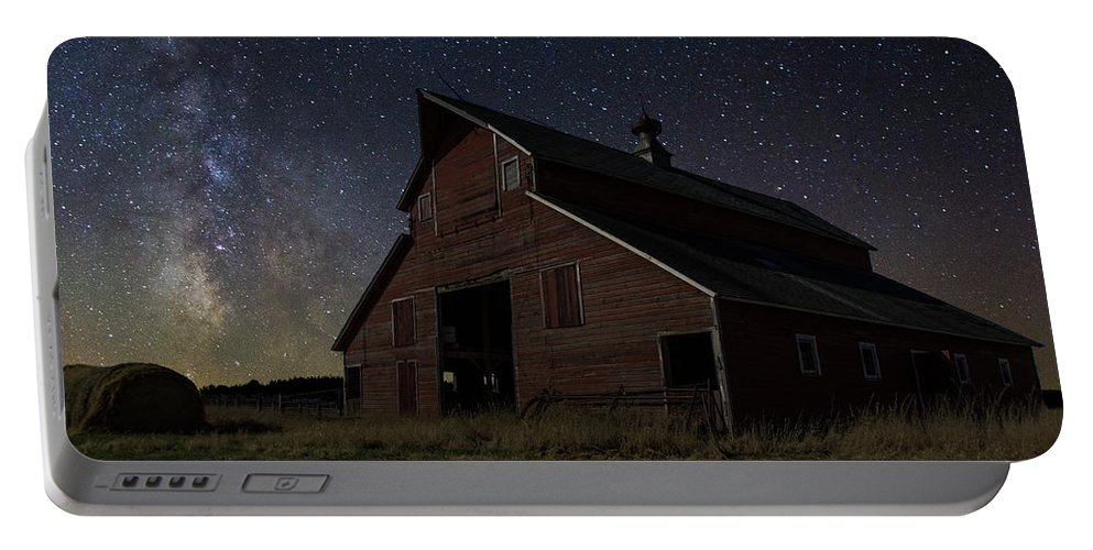 Portable Battery Charger featuring the photograph Barn II by Aaron J Groen