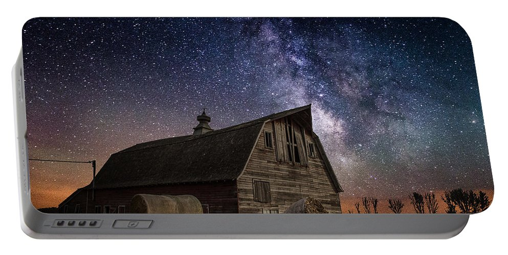 Barn Portable Battery Charger featuring the photograph Barn Iv by Aaron J Groen