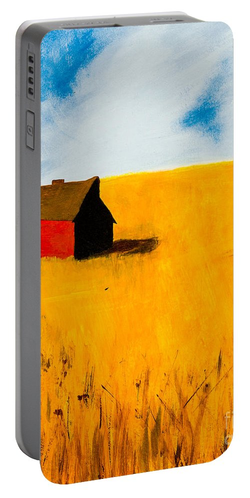 Barn Portable Battery Charger featuring the painting Barn by Stefanie Forck