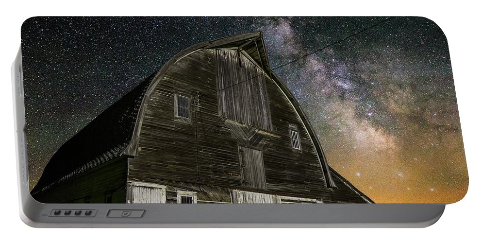 Portable Battery Charger featuring the photograph Barn Vi by Aaron J Groen