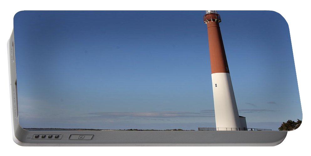 Barnegat Lighthouse Portable Battery Charger featuring the photograph Barnegat Inlet And Light by Christiane Schulze Art And Photography