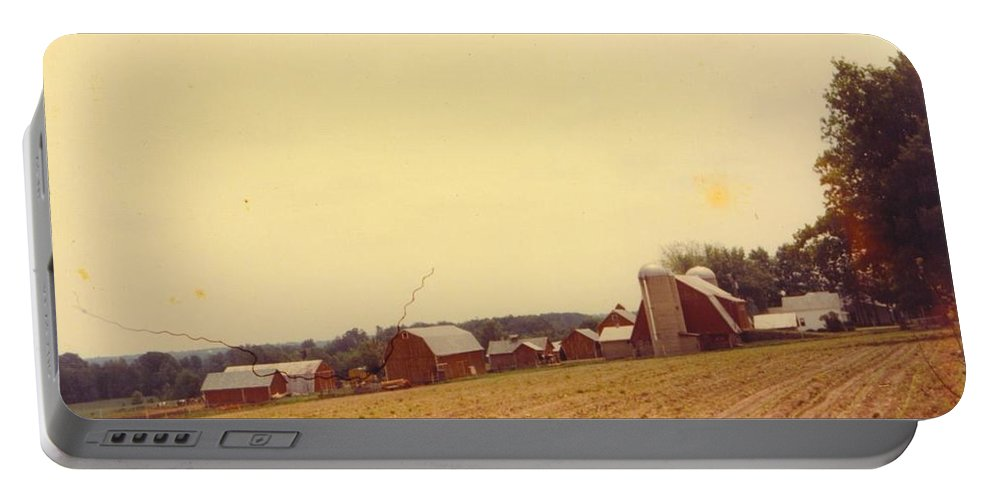 Michigan Farm Portable Battery Charger featuring the photograph Barns And Landscape by Robert Floyd