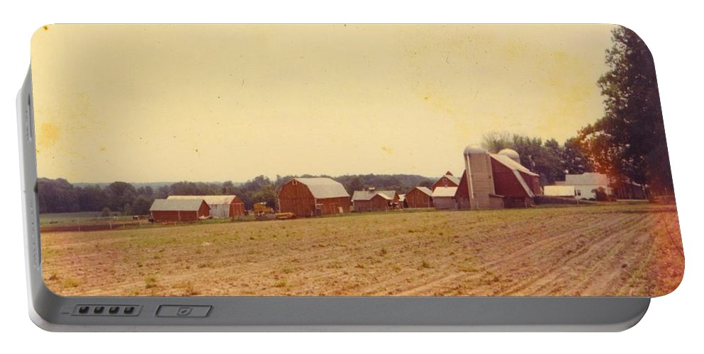Large Michigan Farm Portable Battery Charger featuring the photograph Barns by Robert Floyd