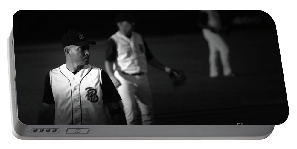 Baseball Portable Battery Charger featuring the photograph Baseball Days by Karol Livote