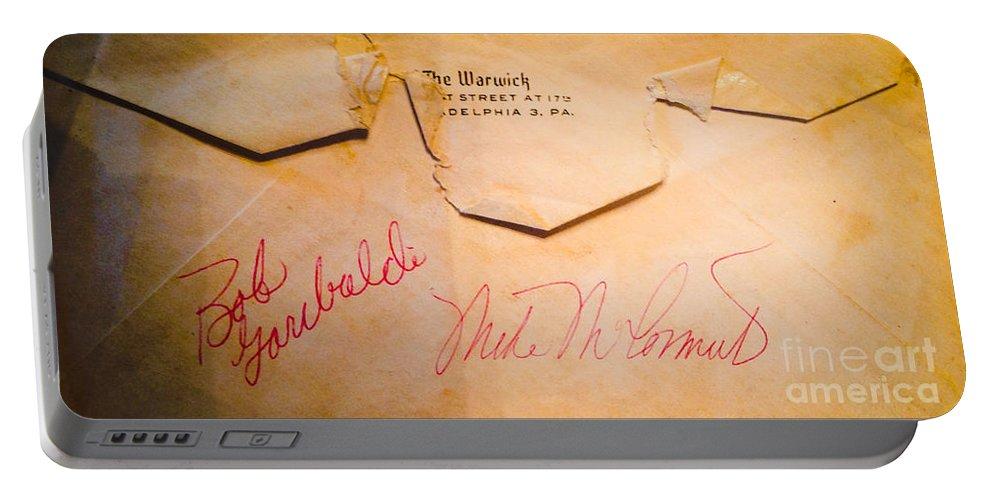 Baseball Signatures Portable Battery Charger featuring the photograph Baseball Treasures by Jan Dappen