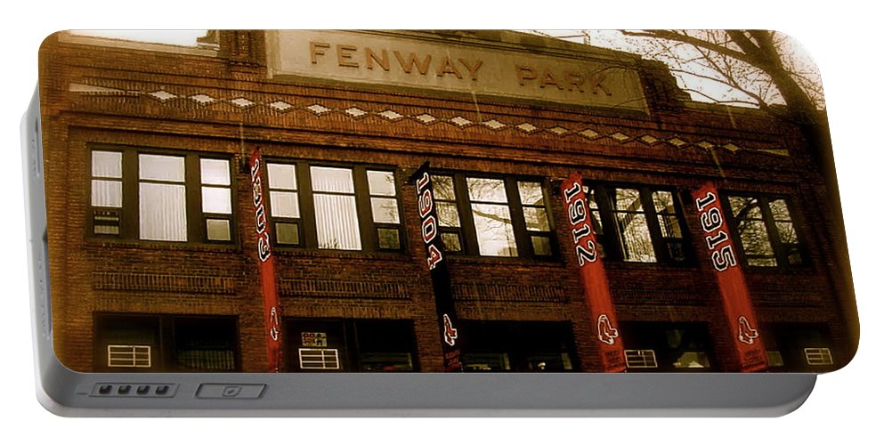 Fenway Park Collectibles Portable Battery Charger featuring the photograph Baseballs Classic V Bostons Fenway Park by Iconic Images Art Gallery David Pucciarelli