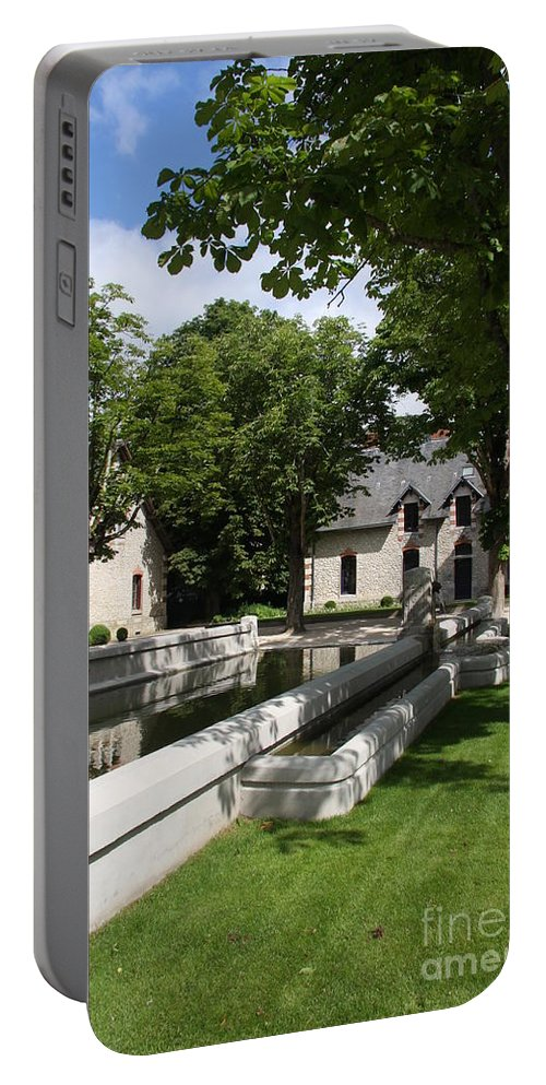 Water Portable Battery Charger featuring the photograph Basin In The Castle Yard by Christiane Schulze Art And Photography